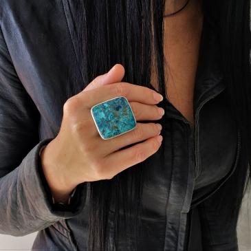 Shattuckite Ring