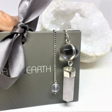 Rose Clear Quartz Pendulum