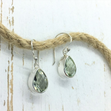 Amethyst Green Earrings