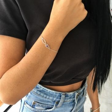 Amethyst Infinity Bracelet